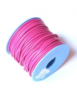 Cordon Cuero 2mm Rosa Chicle