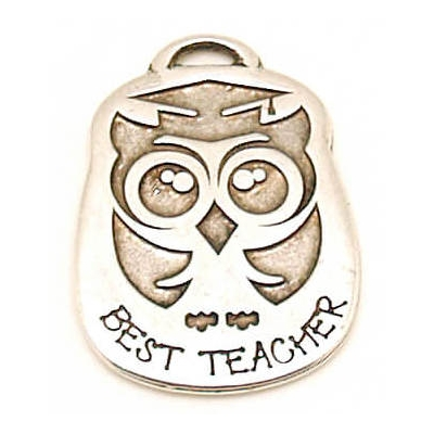 Colgante Best Teacher 37x25mm
